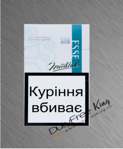 Esse Menthol slims Cigarettes order online at Duty Free Price