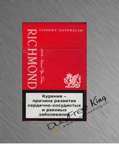 Richmond Cherry slim Cigarettes order online at Duty Free Price