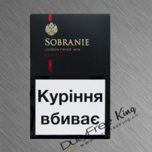 Sobranie Cigarettes KS Black order online at Duty Free Price