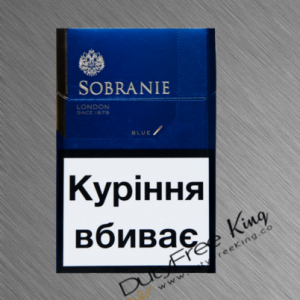 Sobranie Cigarettes KS Blue order online at Duty Free Price