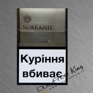 Sobranie Cigarettes KS Gold order online at Duty Free Price