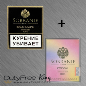 Sobranie Cigarettes Black Russian and Sobranie Cocktail
