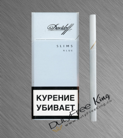 Davidoff Slims Blue Cigarettes order at Duty Free Price | Dutyfreeking.co