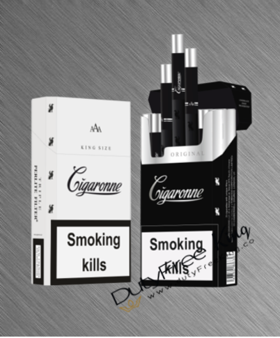 Cigaronne Black Kind Size Cigarettes