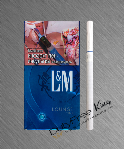 L&M Lounge Blue 2in1 cigarettes