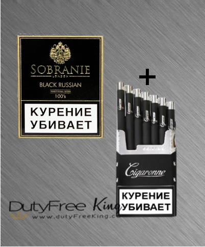 Sobranie Black Russian - Cigaronne Black King Size sample carton