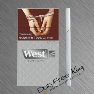 West Silver Super Slims Cigarettes